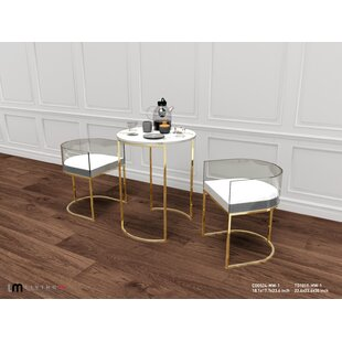 Oppelo 2 Piece Breakfast Nook Dining Set