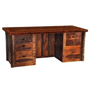 Reclaimed Barnwood 6 Drawer Executive Desk