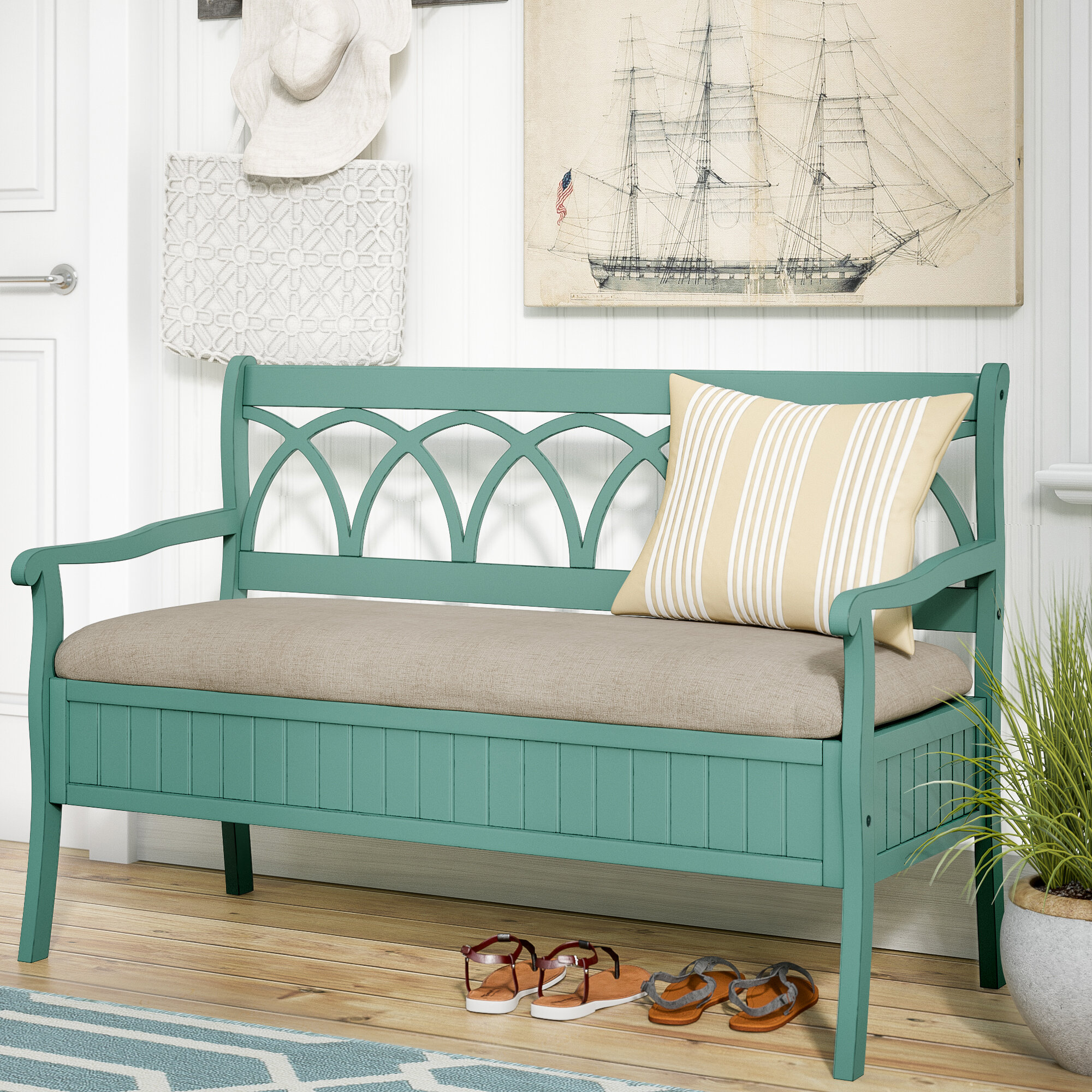 Highland Dunes Channahon Storage Bench & Reviews | Wayfair