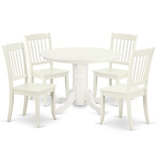 Kutz 5 Piece Solid Wood Dining Set