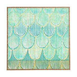 'Turquoise Scallops' Framed Print