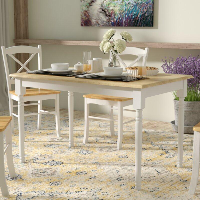 August Grove Clara Rectangular Dining Table & Reviews | Wayfair
