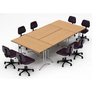 Meeting Seminar 4 Piece Combo 10u0027 Rectangular Conference Table