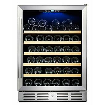 Wine Enthusiast Companies 48 Bottle Silent Series Dual Zone