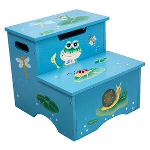 Froggy Step Stool with Storage by Fantasy Fields