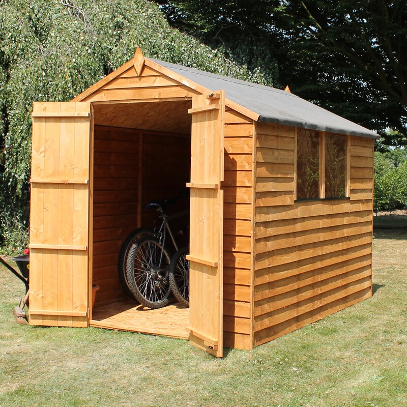 Mercia Garden Products 6 Ft. W X 8 Ft. D Overlap Apex Wooden Shed & Reviews