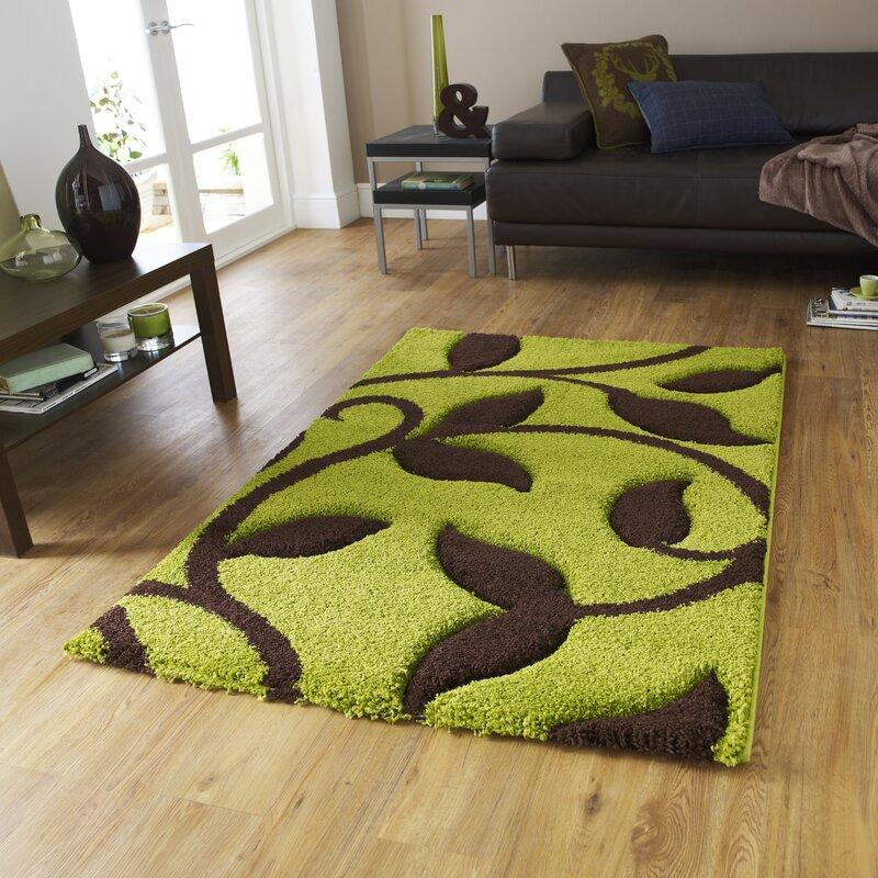 Charlton Home Theresa Green Area Rug & Reviews