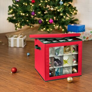 48-Count Container Ornament Storage