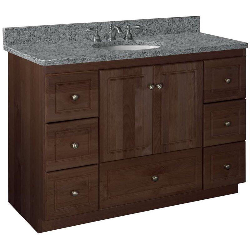 """Bathroom Vanity Drawers strasser woodenworks simplicity 48"""" bathroom vanity base & reviews"""
