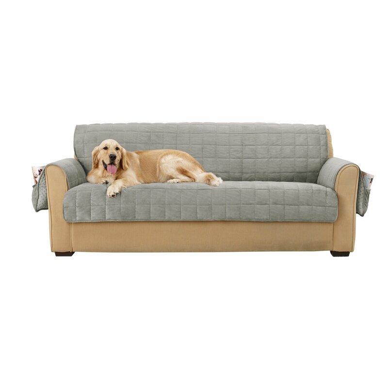 Sure Fit Deep Pile T-Cushion Sofa Slipcover