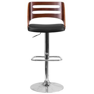 Kersh Adjustable Height Swivel Bar Stool