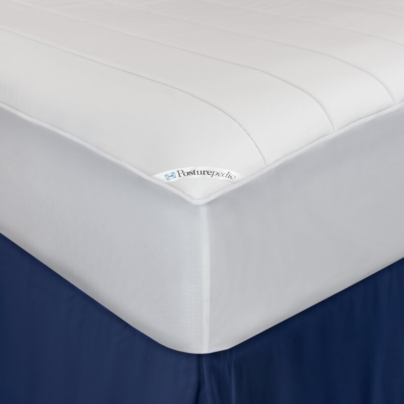 fitted mattress protector. Posturepedic Washable Memory Foam Fitted Waterproof Mattress Protector