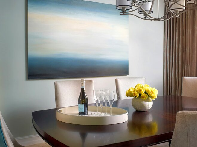 Contemporary Dining Table Decor Room Wayfair