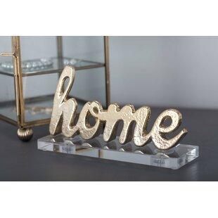 Aluminum/Acrylic Home Letter Blocks (Set Of 2)