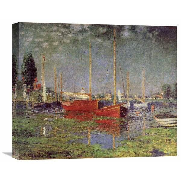 Global Gallery Argenteuil 1875 By Claude Monet Painting Print On Wrapped Canvas Wayfair