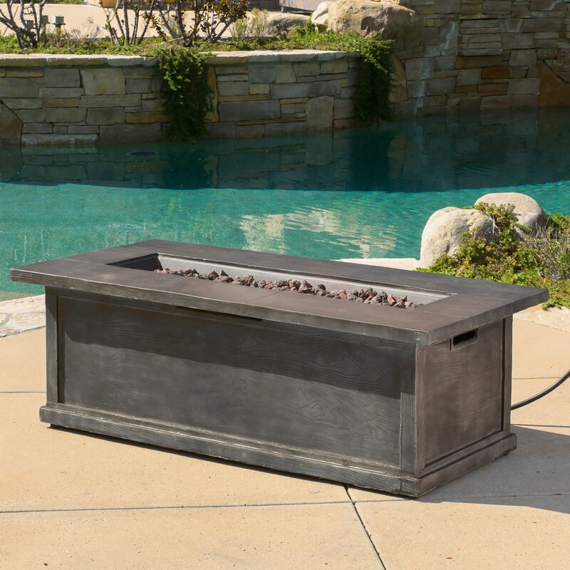 Capistrano Metal Propane Fire Pit Table