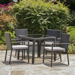 22f544c0e1b8 Brooklet 5 Piece Dining Set with Cushions