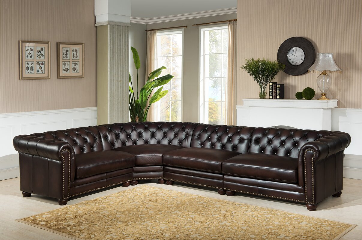 Amax Bakersfield Leather Modular Sectional Amp Reviews