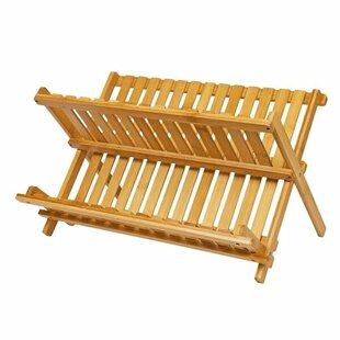 Mason Bamboo Folding Dish Rack by Brambly Cottage
