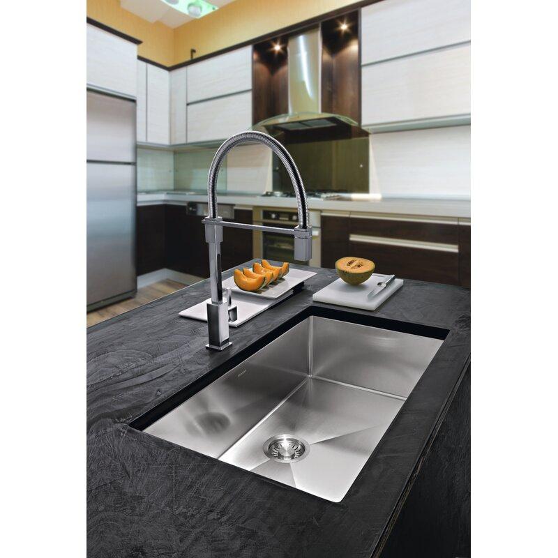 """Kitchen Sink 19 X 33: Franke Planar 8 33"""" L X 19"""" W Undermount Kitchen Sink"""