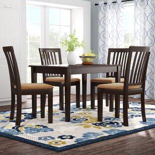 upholstered dining room set grey oneill modern piece upholstered dining set wayfair