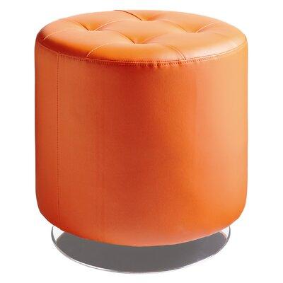 Wade Logan Brierfield Domani Swivel Ottoman Upholstery Color: Orange