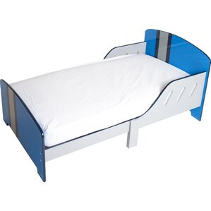 Classically Cool Racing Stripes Toddler Bed by P'kolino