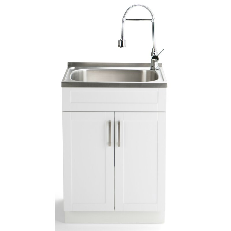 Hennessy 24 X 197 Free Standing Laundry Utility Sink With Faucet