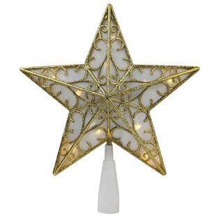 7d1ff7118b43 Glitter Star LED Christmas Tree Topper