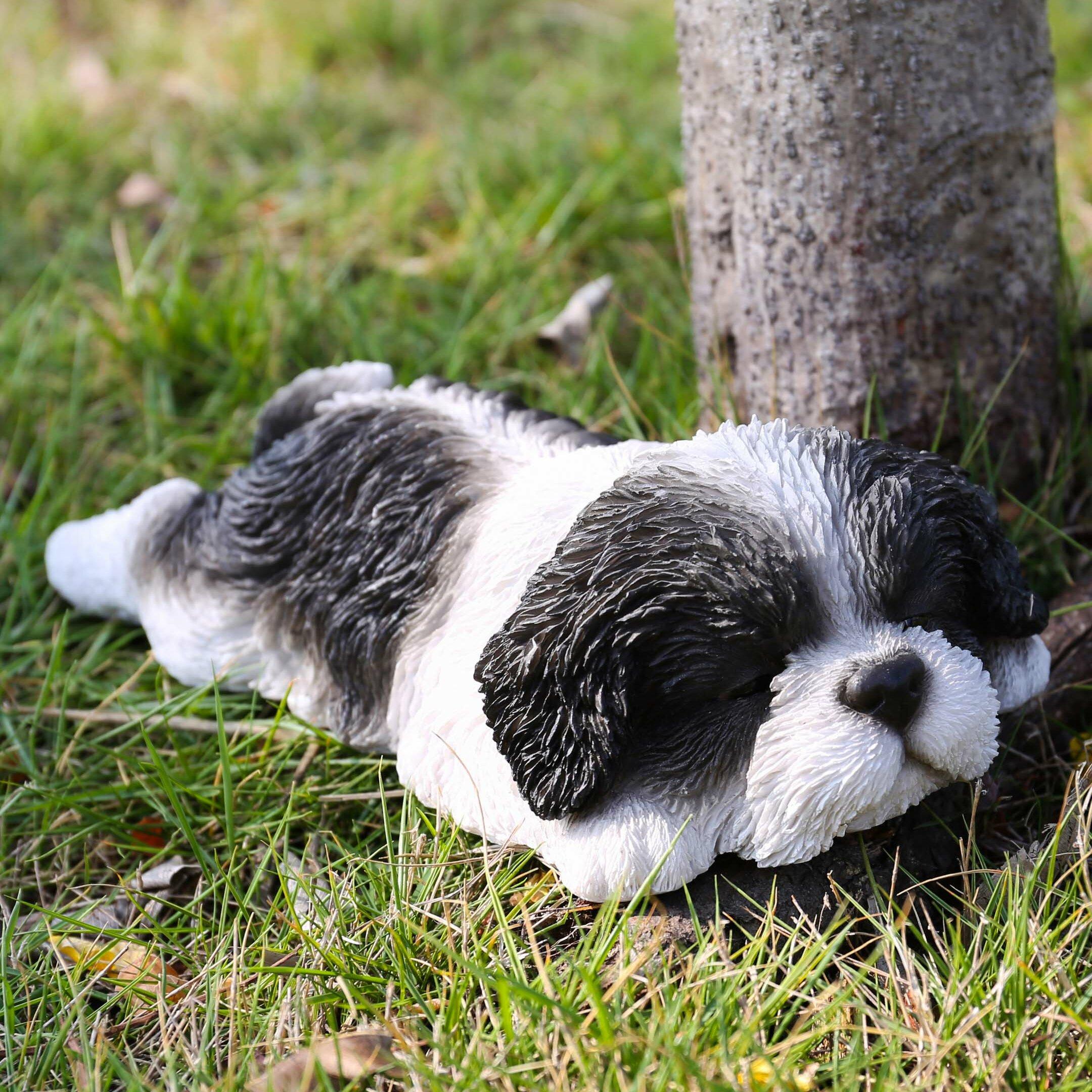 Red Barrel Studio Ferretti Shih Tzu Puppy Sleeping Statue Reviews