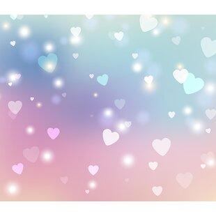 "Sweet Hearts 8' x 118"" 6 Piece Wall Mural Set"