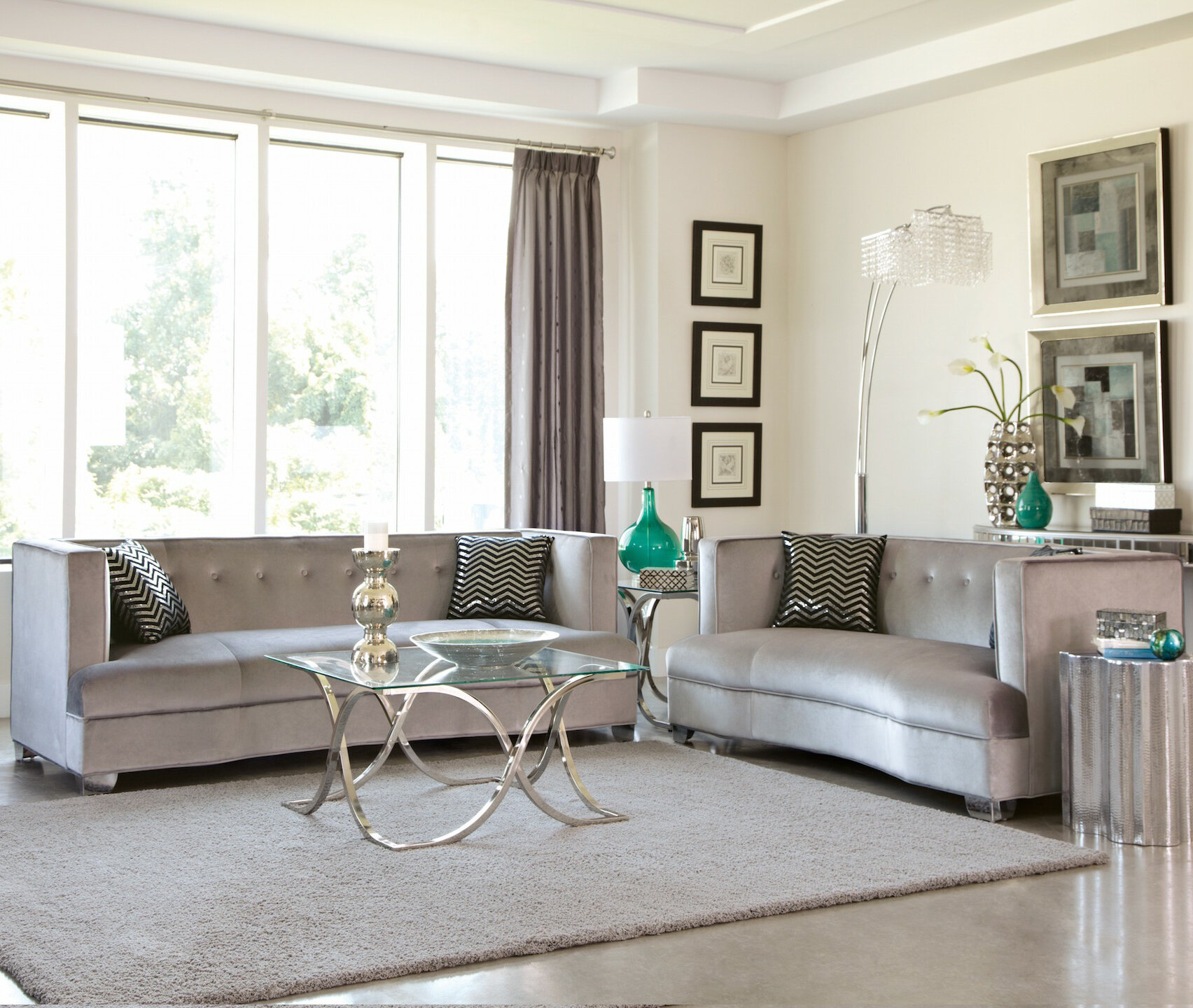 Infini Furnishings Glen Cove 2 Piece Living Room Set | Wayfair