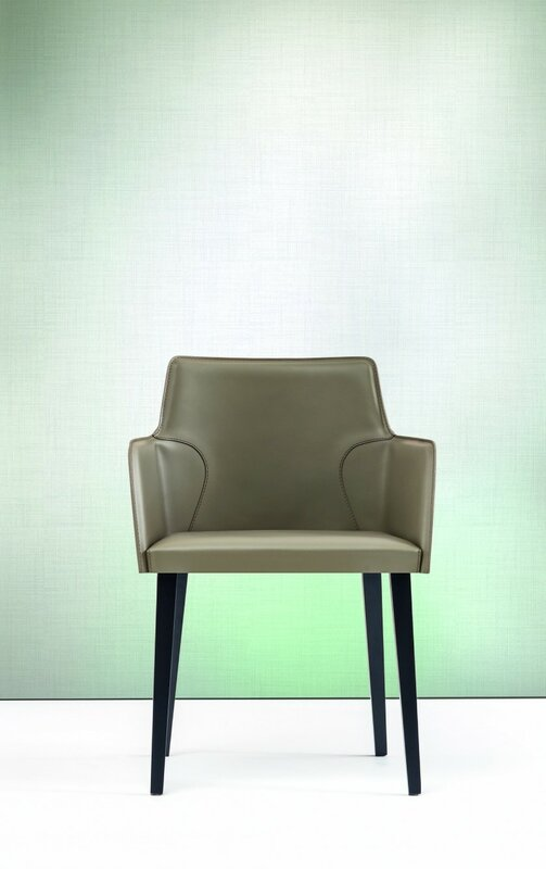 Yumanmod Nora Genuine Leather Upholstered Dining Chair