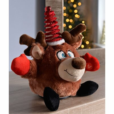 Novelty Spinning Dancing Musical Christmas Reindeer