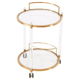 Elrod Round Gold Bar Cart Great price