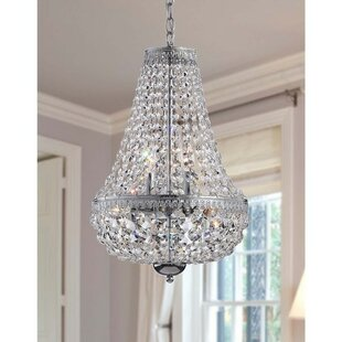 Crystal chandeliers youll love wayfair mcmiller symmetric 6 light crystal chandelier mozeypictures Image collections