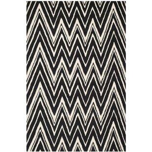 Arrington Textured Hand Tufted Wool Black/Ivory Rug by Longweave