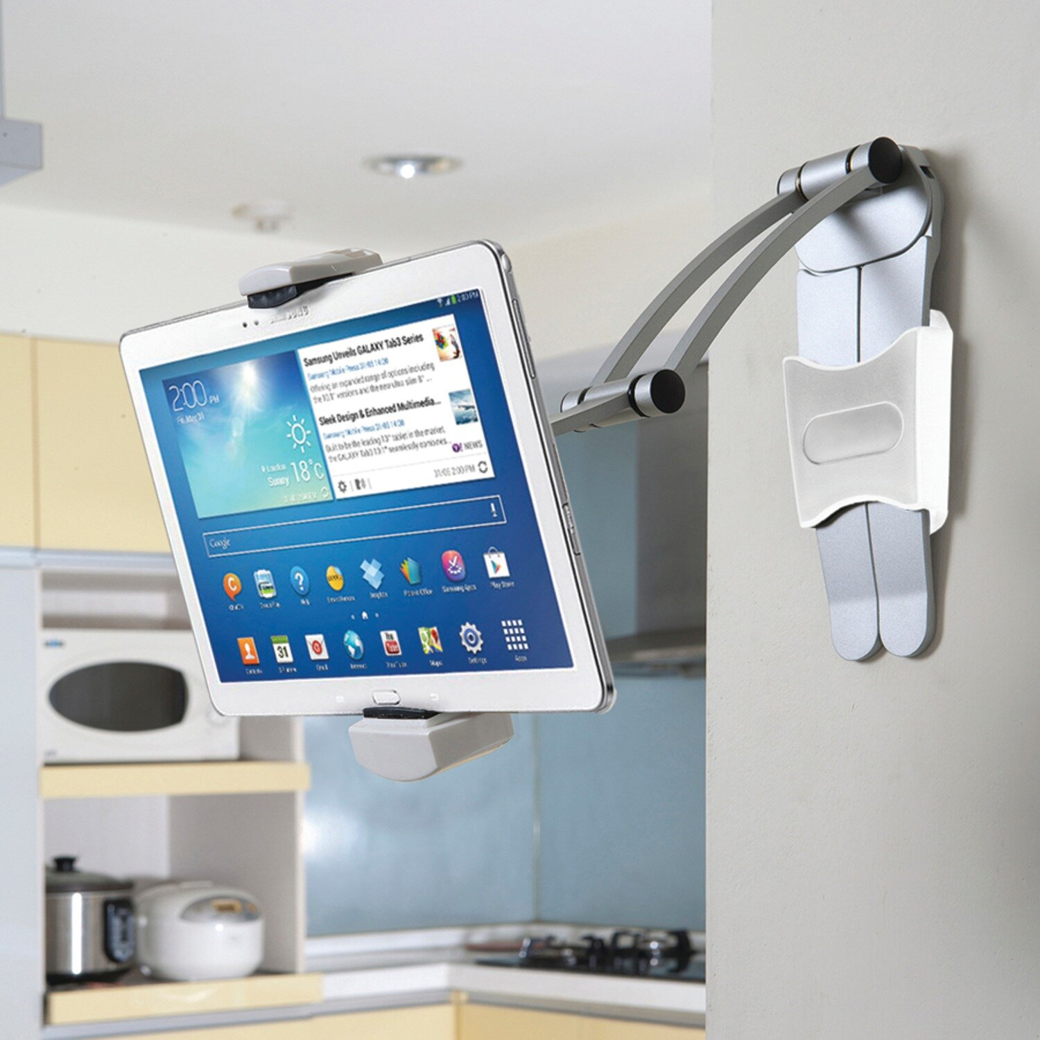 CTA Digital 2-in-1 Kitchen Mount for iPad and Tablets Stand   Wayfair