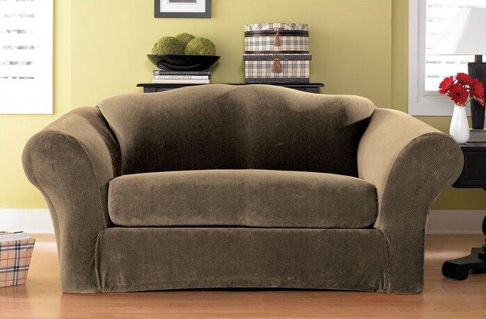 Sure Fit Stretch Pique Box Cushion Sofa Slipcover Reviews Wayfair