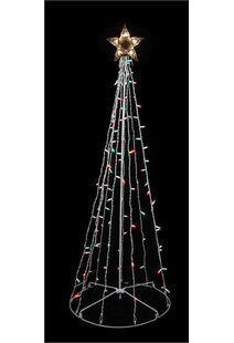 twinkling christmas tree yard decoration
