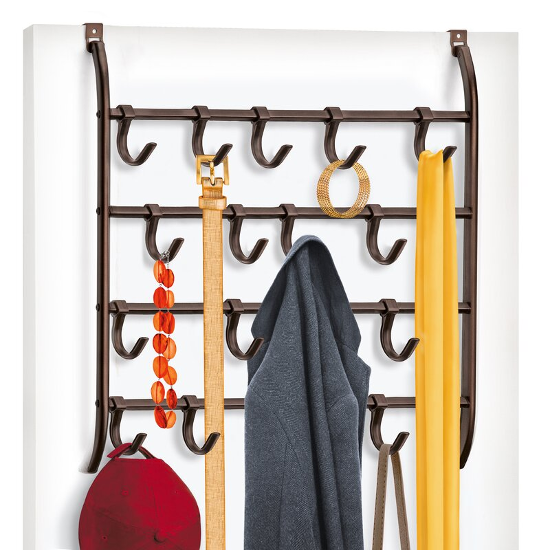 Over Door 16 Adjustable Hook Accessory, Scarf, U0026 Jewelry Organizer