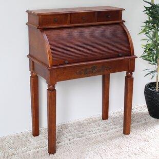 Windsor Hand Carved Roll Top Secretary Desk