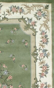 American Home Rug Floral Garden Aubusson Sage Ivory Area Amp Reviews Wayfair