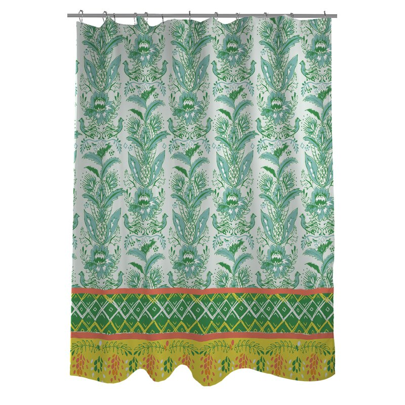 One Bella Casa Tropical Shower Curtain