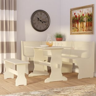 Delano 3 Piece Dining Set & Dining Table with Bench Kitchen u0026 Dining Room Sets Youu0027ll Love | Wayfair