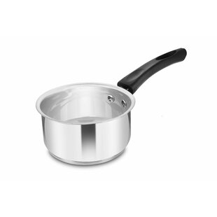 Stainless Steel 1L Milk Pan with Lid by Symple Stuff