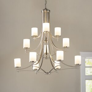 Foxall 12-Light Shaded Chandelier