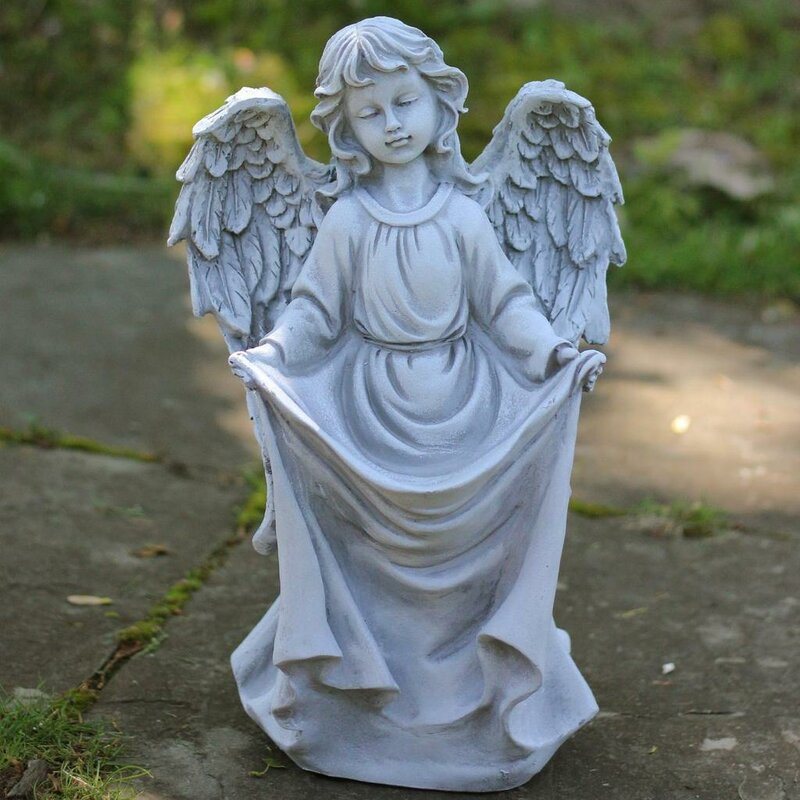 Northlight Stone Angel Bird Feeder Garden Statue Wayfair