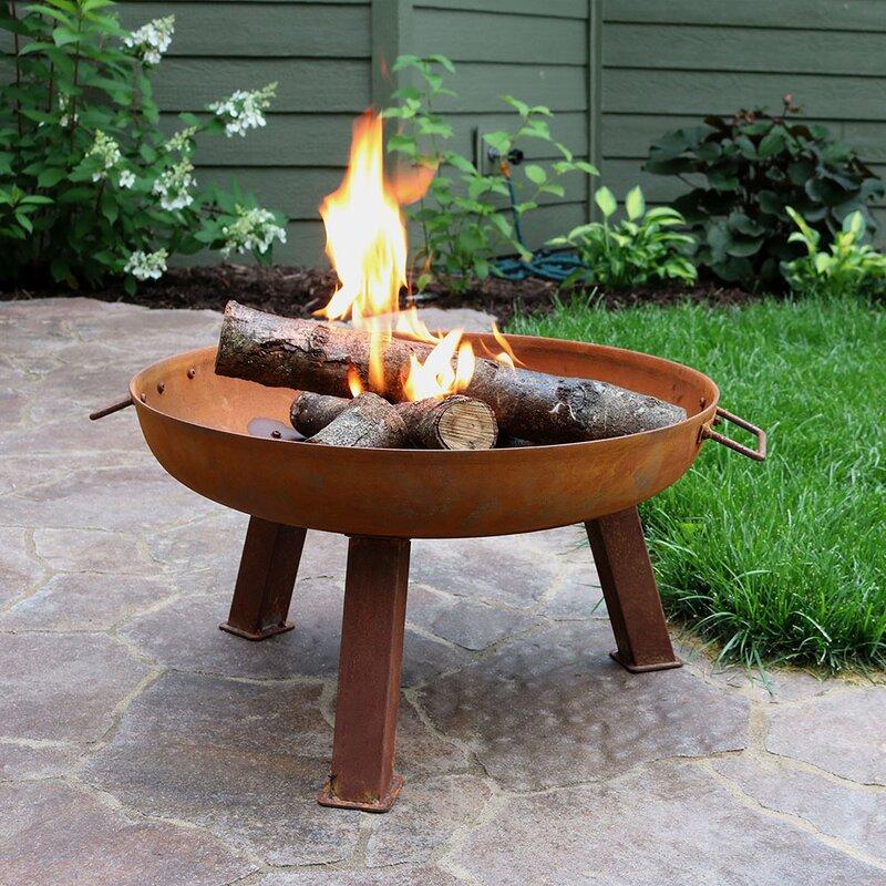 williston forge tidworth bowl cast iron wood fire pit  u0026 reviews