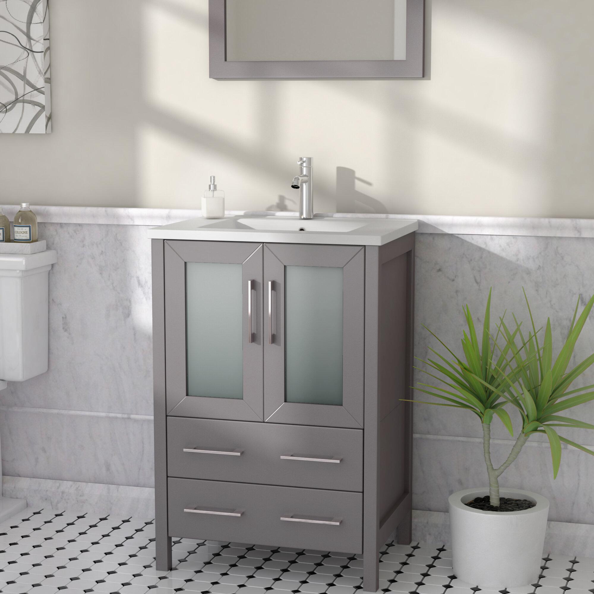 Astonishing Karson 24 Single Bathroom Vanity Set With Mirror Download Free Architecture Designs Scobabritishbridgeorg